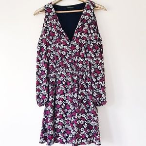 Banana Republic Cold Shoulder Floral Dress Size 6